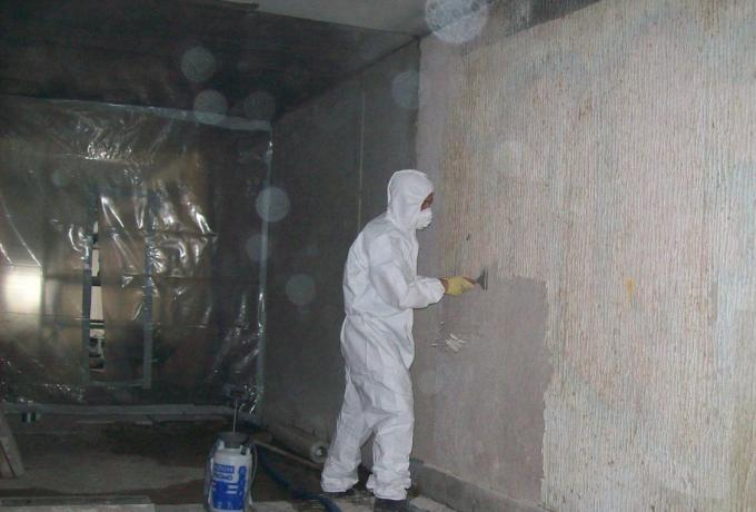 removal of artex containing asbestos